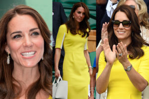 Radosna Kate Middleton na trybunach Wimbledonu (ZDJĘCIA)