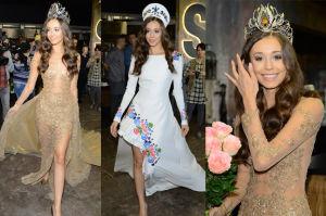 Izabella Krzan pozuje w sukniach na konkurs Miss Universe (ZDJĘCIA)