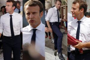 """Emmanuel Macron pociesza ofiary huraganu na Karaibach: """"Państwo DOSKONALE SIĘ ZORGANIZOWAŁO!"""" (ZDJĘCIA)"""
