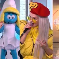 Umięśnione uda Margaret i Smerfetka na scenie TVN-u