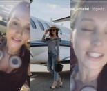 """Marina tłumaczy się na Instagramie z prywatnego samolotu: """"Nie lubię latać ze zwykłymi ludźmi, więc zabrałam Sarę z dzieciakami! Niech lizną trochę luksusu!"""""""