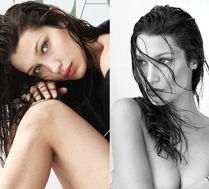 Bella Hadid pozuje topless z mokrymi włosami