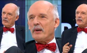 """Korwin-Mikke bredzi w telewizji: """"Żyjemy w kraju katolickim i kobiety powinny być posłuszne mężom. Są mniej inteligentne, tego uczono w szkole!"""""""