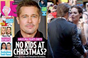 """Brad Pitt nie zobaczy się z dziećmi w święta? """"Jest smutny i sfrustrowany"""""""