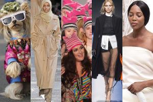 Tydzień mody w Mediolanie: psy na wybiegu, modelka w hidżabie i Anja Rubik u Versace (ZDJĘCIA)