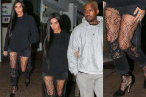 """Kim Kardashian """"ratuje małżeństwo"""" w koronkowych rajstopach (ZDJĘCIA)"""