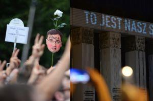 """Tak wyglądała demonstracja pod Sądem Najwyższym: """"Powstrzymajmy zamach stanu"""""""