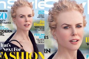 """Wyprasowana twarz Nicole Kidman na okładce """"Instyle""""... (FOTO)"""