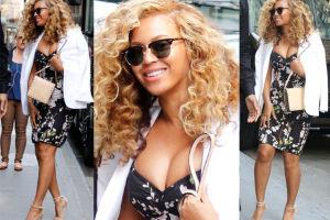 Beyonce z mocno ściśniętym biustem... (ZDJĘCIA)