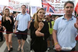 Tomasz Lis z córką na marszu KOD-u (ZDJĘCIA)