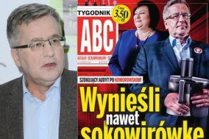 """""""Tygodnik ABC"""" o Komorowskich: """"Wynieśli nawet sokowirówkę"""""""