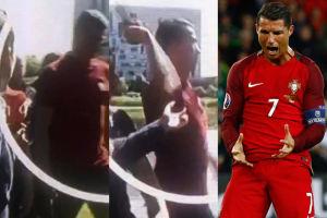 Cristiano Ronaldo wyrwał reporterowi mikrofon i... wyrzucił go do jeziora!