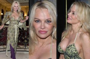 "49-letnia Pamela Anderson i jej silikony na pokazie! ""Piersi mam nadal młode"" (ZDJĘCIA)"