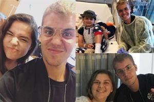 """Justin Bieber spotkał się z chorymi dziećmi. """"Chwycił dłoń mojej córki i zaczęliśmy się modlić"""""""