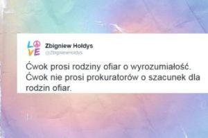 """Hołdys komentuje wypowiedź prezydenta: """"Ćwok prosi rodziny ofiar o wyrozumiałość"""""""