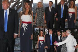 Macronowie goszczą Trumpów na prywatnej kolacji w restauracji na wieży Eiffla! (ZDJĘCIA)