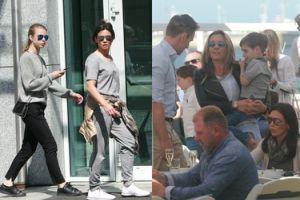 Kinga Rusin na spacerze z córką-modelką (ZDJĘCIA)