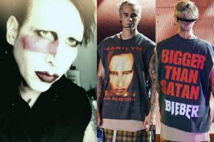 """Manson jest wściekły na Biebera i nazywa go """"wielkim gó*nem""""! """"Przystopuj, synu. Jesteś przy mnie cieniasem"""""""