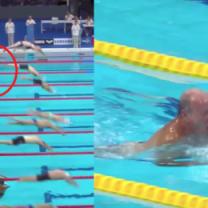 HIT SIECI: Hiszpański pływak uczcił pamięć ofiar zamachu w Barcelonie