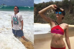 Renulka i Kuba pozdrawiają z plaży