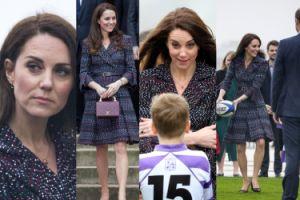 Kate Middleton gra w rugby z torebką za 25 tysięcy złotych (ZDJĘCIA)