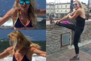 """60-letnia Monika Olejnik """"na fali"""" pokazuje płaski brzuch (FOTO)"""