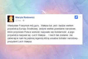 """Maryla Rodowicz broni Wałęsy: """"Był, jest i będzie WIELKIM PRZYWÓDCĄ!"""""""