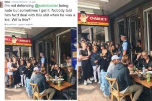 """Tak wygląda """"prywatny"""" lunch Justina Biebera..."""