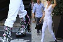 Celine Dion w kwiecistych botkach za 5 tysięcy
