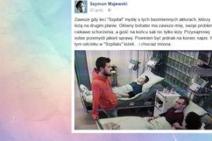 """Szymon Majewski przejęty losami """"bezimiennych aktorów"""""""