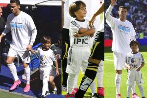 Ronaldo wyszedł na boisko z syryjskim 7-latkiem (ZDJĘCIA)