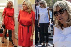 Brigitte Macron w dwóch stylizacjach w Grecji. Która lepsza? (ZDJĘCIA)