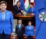 Beata Szydło w kwiatowej broszce wita premiera Węgier (ZDJĘCIA)