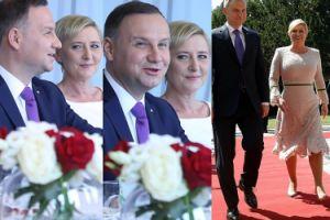 Szczęśliwy Andrzej Duda na spotkaniu z chorwacką prezydent (ZDJĘCIA)