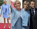Brigitte Macron towarzyszy mężowi podczas zaprzysiężenia na prezydenta Francji (ZDJĘCIA)