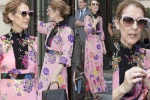 Celine Dion w sukience za 13 tysięcy uspokaja rozemocjonowanych fanów (ZDJĘCIA)