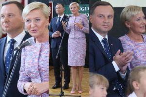 Andrzej Duda z małżonką rozpoczynają rok szkolny w Wilkowyi (ZDJĘCIA)