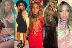 Od fotki w staniku do wielkich ust: zobaczcie wszystkie ciążowe stylizacje Beyonce! (ZDJĘCIA)